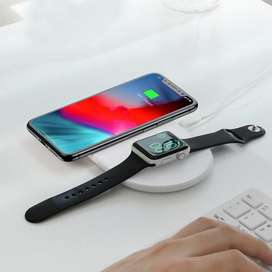 BASEUS Wireless Charger Mobilephone & Iwatch Dual Wireless Charger