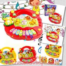 SAY07-Mainan Edukasi Anak Piano Bersuara Hewan Ternak