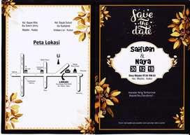 Undangan pernikahan Rp 975