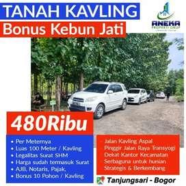 Tanah Kavling Murah Bogor SHM Dijual 500m² Pinggir Jalan