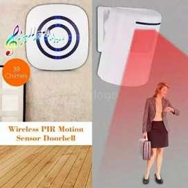 Bel Pintu Sensor Gerak PIR Nirkabel 38 Nada Volume Dpt Disesuaikan iw1