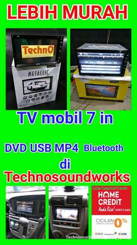 2 din Tv mobil Intersys tape double din bs DVD USB MP4 Bluetooth cicil