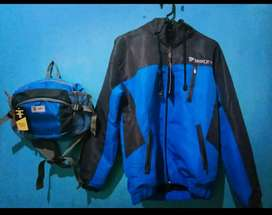 Paket outdoor Jaket WB Blue edition New