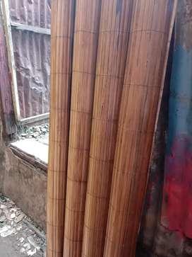 Tirai bambu isi,kulit tirai rotan dan kayu