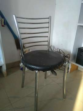 8 Steel chair, L shape counter, 1table