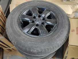 Used 17 inch alloys for Pajero and fortuner