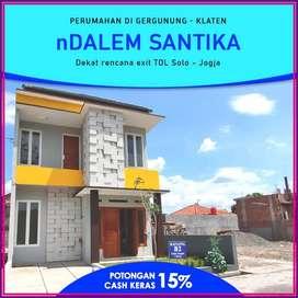 Rumah 2 Lantai di Klaten Kota Dekat Alun Alun, Siap Bangun