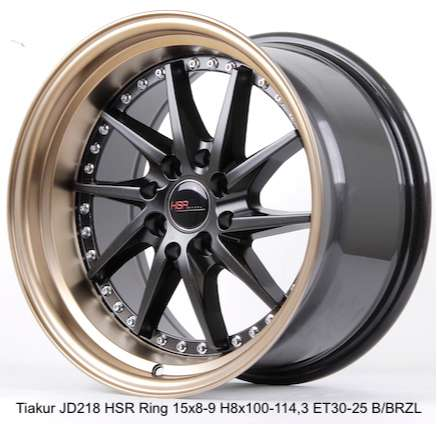 TIAKUR JD218 HSR R15X8-9 H8X100-114,3 ET30-25 BK-BZL 0