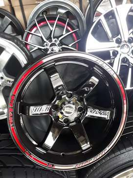 Velg te 37 black red coating r15