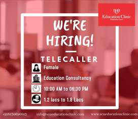 VACANCY FOR THE POST OF TELECALLER