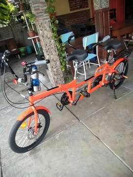 Sepeda tandem gandeng combi lipat