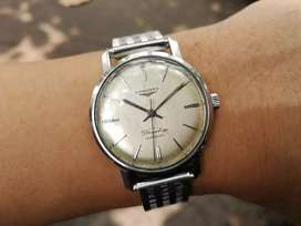 Ori 60s Longines Flagship automatic Silver Brushed Dial iwc omega un