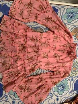 Pink Floral Top (New- Unused)