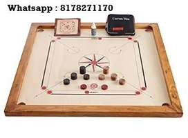 In Stock : Profession Carrom Board with Coins, Striker and Powder :COD