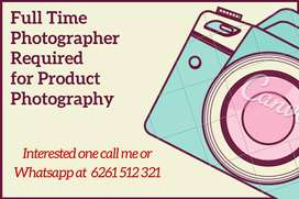 Full time photographer required for the company