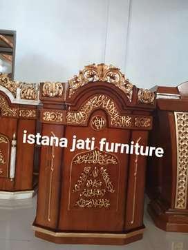 Mimbar masjid ukiran mimbar material kayu jati free ongkir gratis