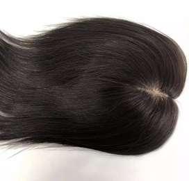 Human Hair Penutup Botak Wig Asli rambut manusia