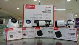 Paket CCTV 8 ch 4 kanera dahua. 2 MP komplit
