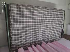 Steel Cots (6x4 feet) with Coiron Beds - 2 Nos.