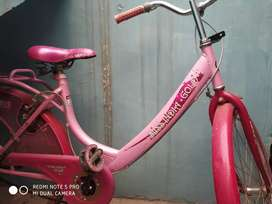 Miss gold bicycle