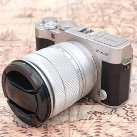 Fujifilm X-A3 kit 16-50mm OIS II Silver Argent kode 1104A19
