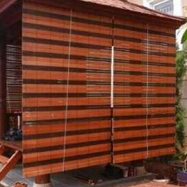 Kerey outdoor kayu motip 30
