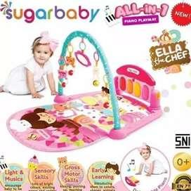 Piano play mat mainan bayi
