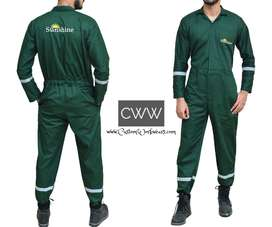 Customized embroidered logo one piece uniform, jumpsuit, boiler suit