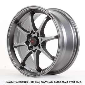 spesial velg HIROSHIMA JD6923 HSR R16X7 H8X100-114,3 ET38 SMG