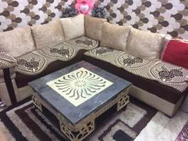 7seater sofa with table