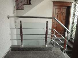 Glass and stainless steel Railing