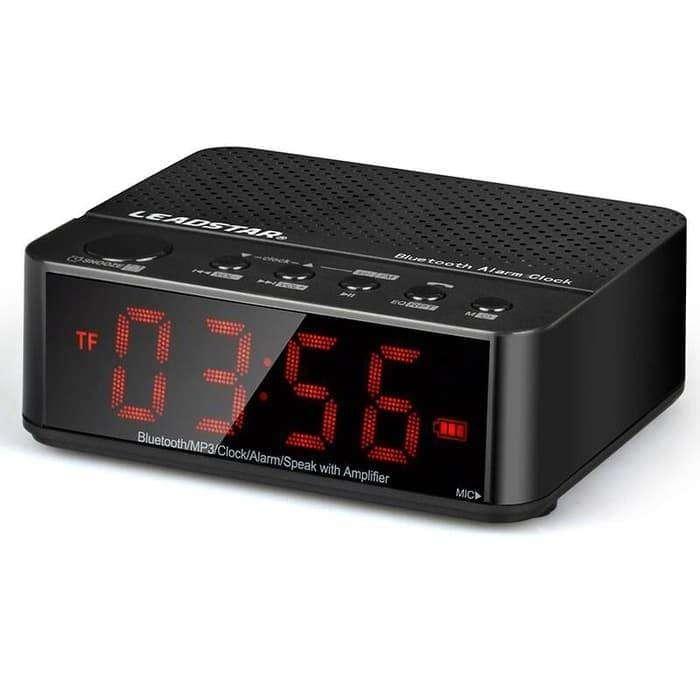Desktop Bluetooth Speaker Alarm LED Clock / Jam Meja Digital 0