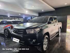 KM 27.000 Toyota Hilux 2.5 V Double Cabin AT 2019 Hitam ASTINA MOBIL