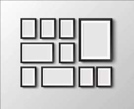 Set of wall mount elegant frames