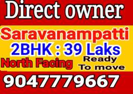 East facing house #2BHK for sale # saravanampatti