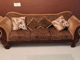 7 seater Brown Coloured Sofas