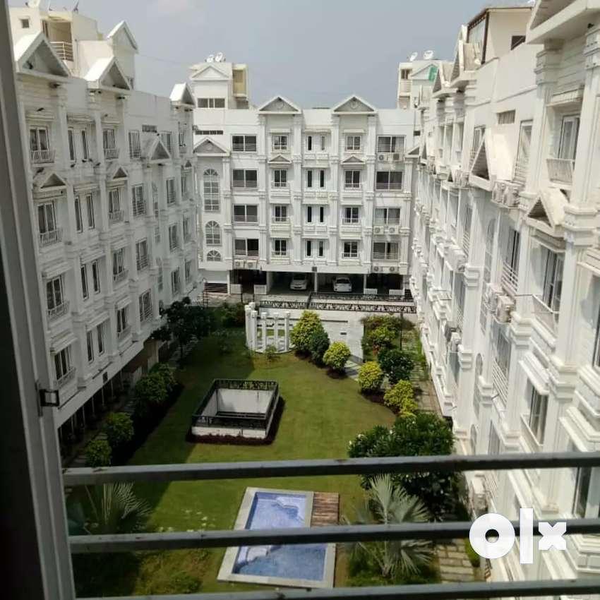 3 bhk brand new semi furnish flat for sale sindhu bhawan road thaltej 0