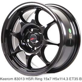 KEEROM 83013 HSR R15X7 H5X114,3 ET35 BLACK