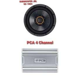 Power 4 Channel PCA + Subwoofer JBL S2-1024 PLUS PEMASANGAN