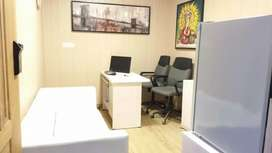 Fully furnished office with all office furniture and important items