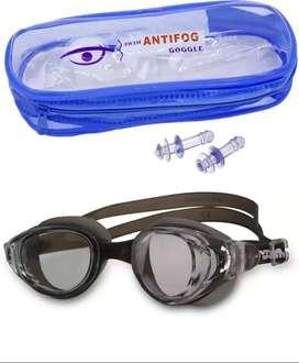 kacamata renang dengan penyumbat telinga