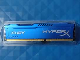 HyperX Fury 8GB 1600MHz DDR3 RAM with lifetime warranty