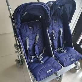 STROLLER Baby Elle Twin Trevi S-2500 ORI BAGUS