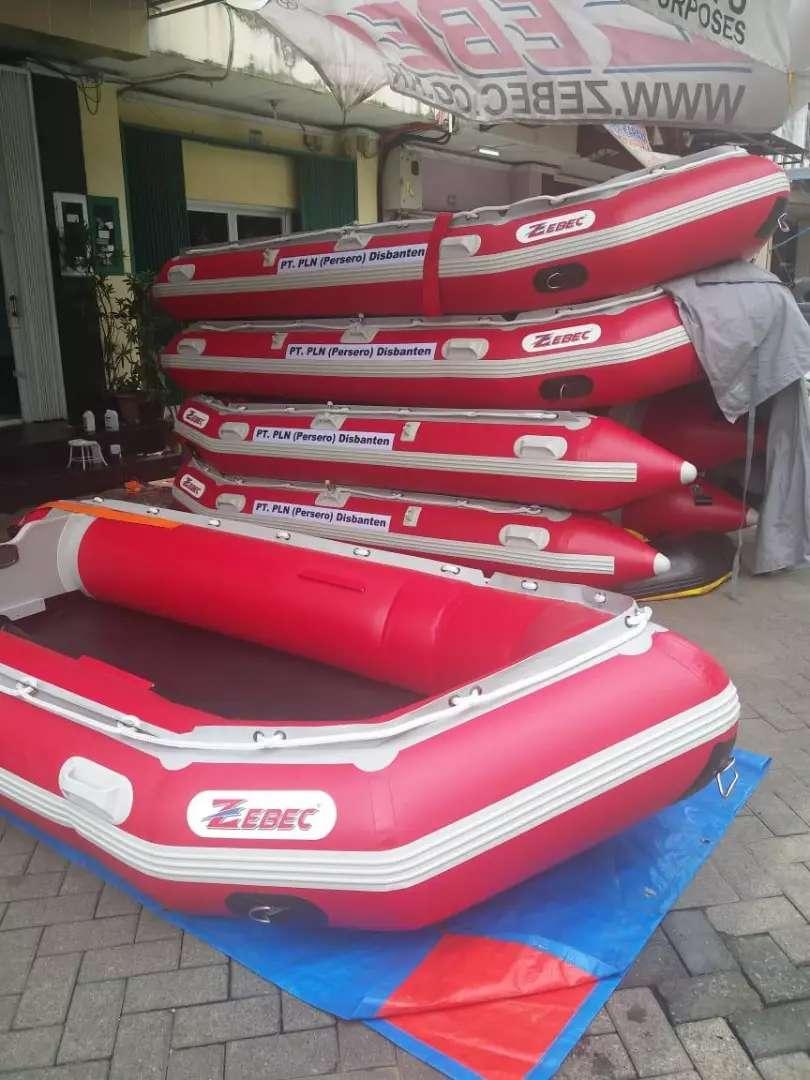 Perahu karet ZEBEC 380 armada kapasitas 6 orang perekatan welding 0