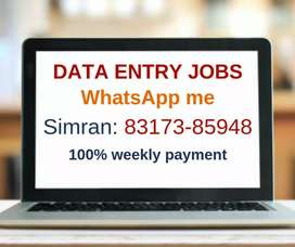 Earn Weekly 5000 with Data entry Work. Work 2 Hrs Per Day.