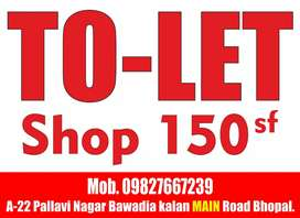 Tolet shop for rent 4500 main room pe