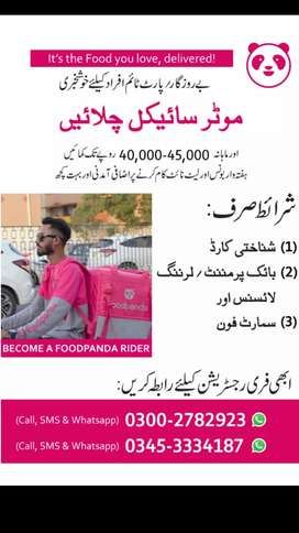 Food Delivery Riders Required