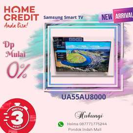 Samsung Smart TV UA55AU8000 Kredit Tanpa Kartu Kredit Proses Cepat