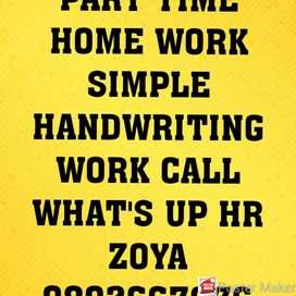 SIMPLE HANDWRITING WORK AT HOME