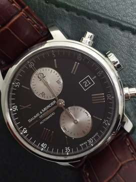 Baume Mercier men with brown leather strap